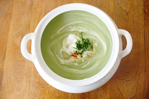 Creamy Chilled Cucumber And Avocado Soup Recipe — Dishmaps