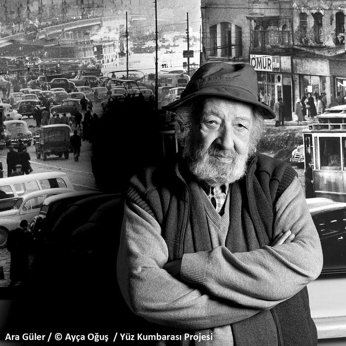 Ara Güler / © Ayça Oğuş / Yüz Kumbarası Projesi