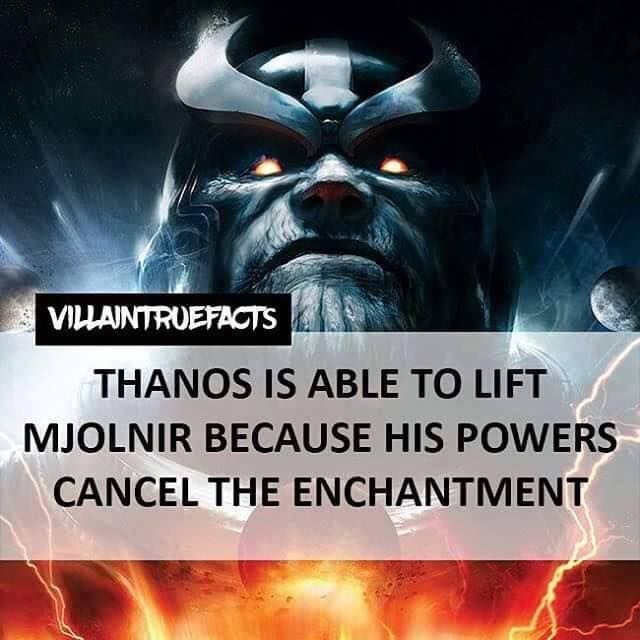 Thanos - Marvel Comics FACT !!!