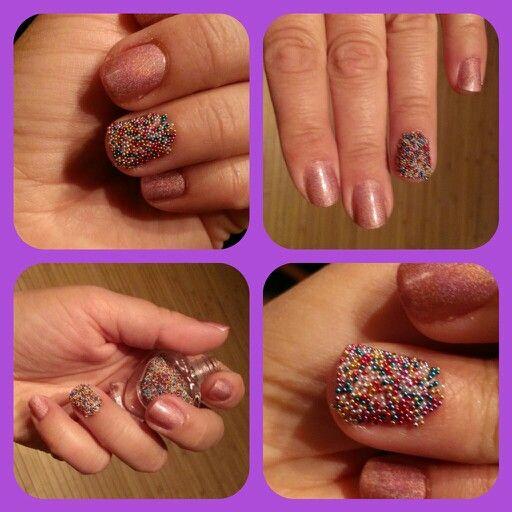 Spring caviar manicure