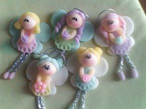 angelitas muy dulces. #Polymer #clay angels.