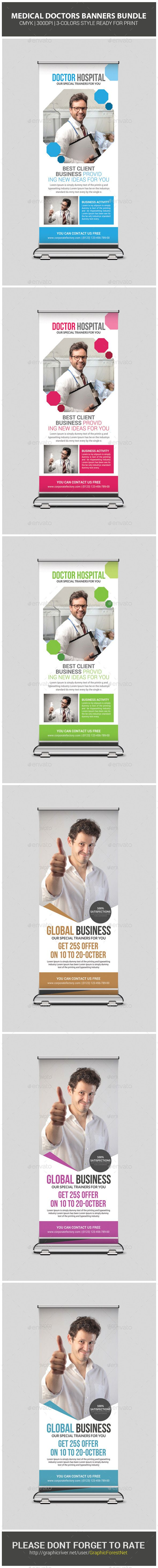 Corporate Business Rollup Banner Bundle - Signage Print Templates