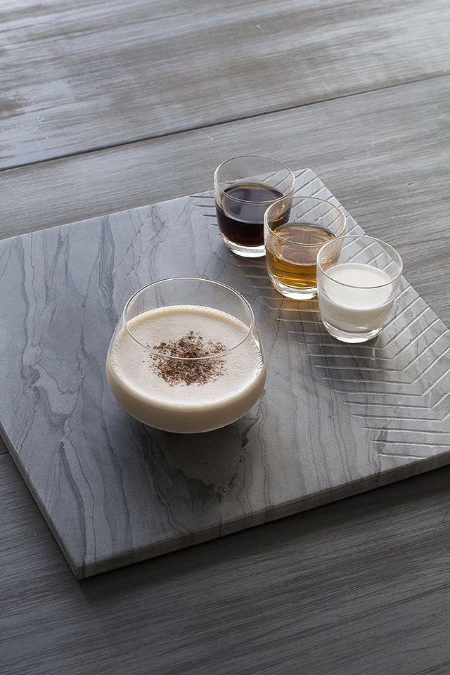 Brandy Alexander Cocktail Recipe:      1 oz cognac     1 oz dark crème de cacao     1 oz half and half     freshly grated nutmeg for garnish