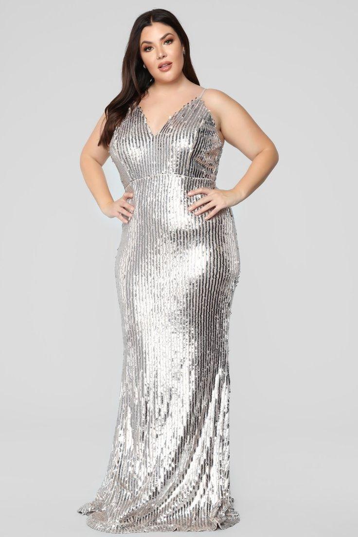 Isla rose sequin dress blushsilver plus size dresses