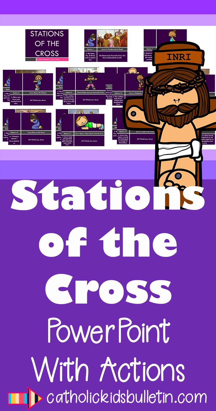 This is a graphic of Stations of the Cross for Youth Printable for cross preschooler