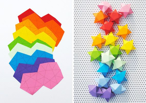 fabriquer des etoile en origami