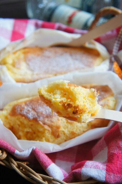[簡単!包んで焼くだけ!] フライパンで包んで チーズシフォンケーキ | 珍獣ママ オフィシャルブログ「珍獣ママのごはん。」Powered by Ameba