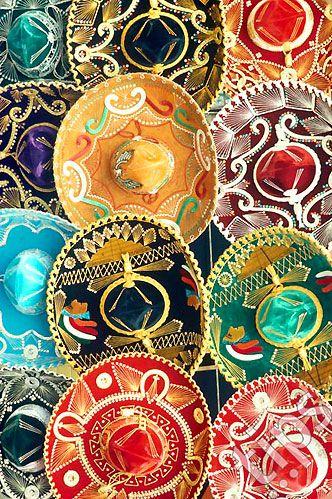 Sombreros Mexico | colour inspiration | textile design | surface pattern design