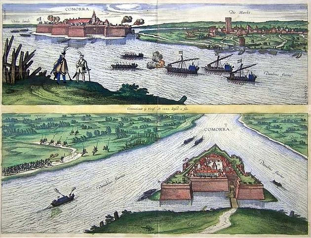1595, Komárno (Comorra), Veduta, Color