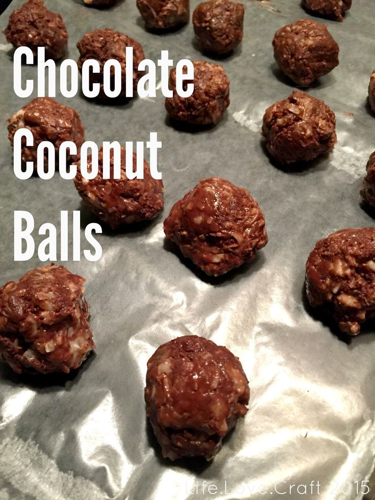 Life.Love.Craft: Chocolate Coconut Bars?....No Chocolate Coconut Balls.