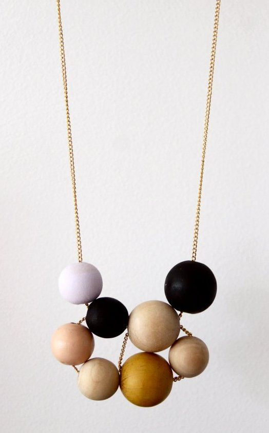 DIY Wooden Bead Necklace Kotipalapeli. I saw a similar necklace on a big site yesterday that wasn't nearly as nice as this one. For this DIY wooden bead necklace, kids (one girl was 3 years old)...