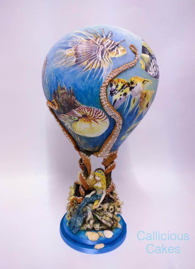 Sea World Hot Air Balloon - Cake by Callicious Cakes