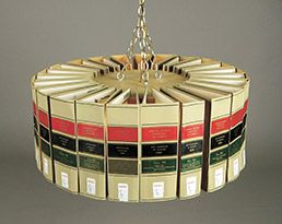 Law Book Chandelier (& best use of law books ever!)