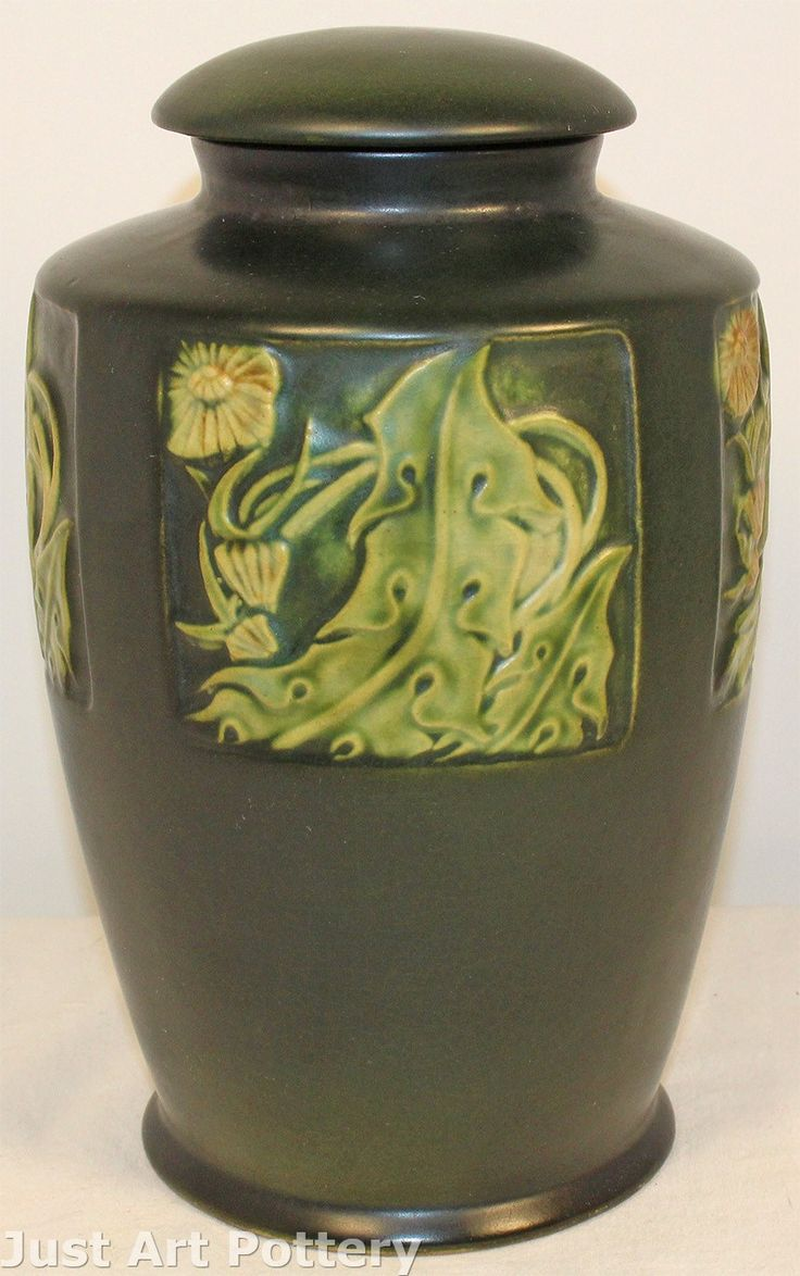 62 best collectible ceramics arts crafts art nouveau art deco roseville pottery rosecraft panel vase with lid 295 9 image reviewsmspy