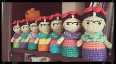 Frida Kahlo patrón crochet/ganchillo