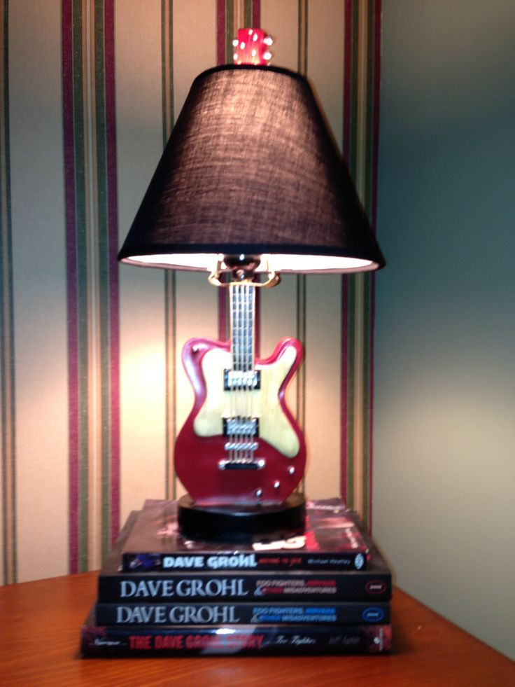 Precious new lamp for baby's rock n roll nursery