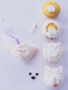 Playful Puppy Cupcakes: Westie Step 3 (via Parents.com)