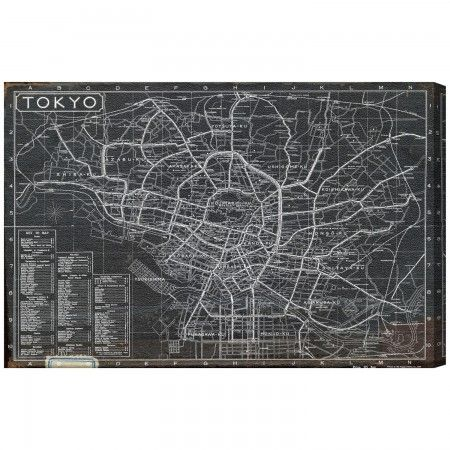 Oliver Gal Tokyo Tourist Map 1918