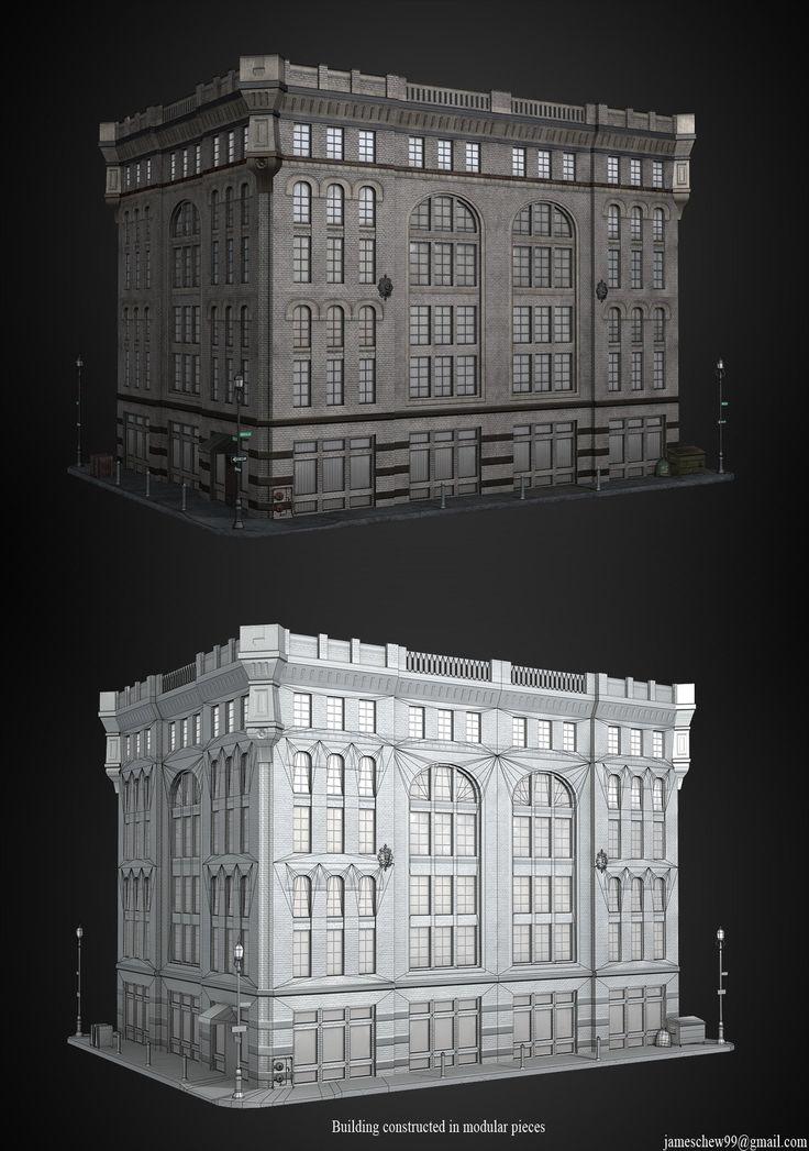 ArtStation - Modular building, James Chew