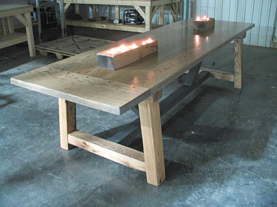 Solid Oak Beam Table SALE Custom Wood Hand Crafted Rustic Farmhouse Dining  Table Farm Table