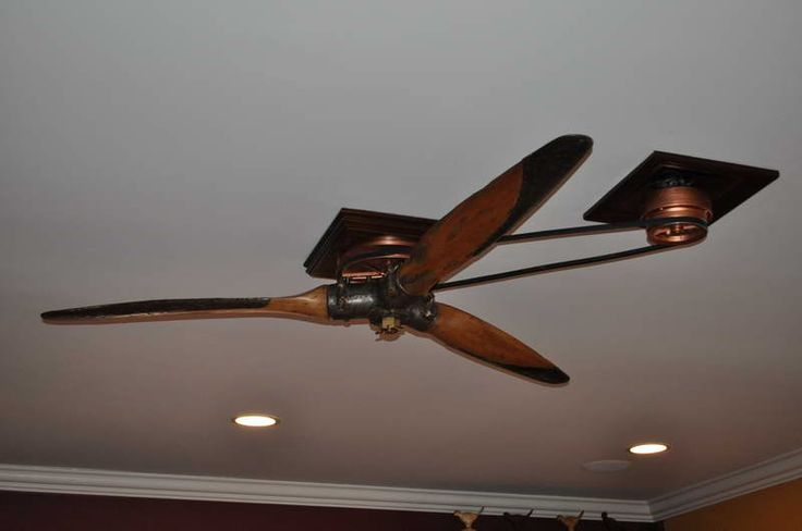 Belt-Driven Ceiling Fans for Homes | Belt Driven Ceiling Fans With White Roofs   (this is a prop off of an airplane <3) LOVE IT!!!!!