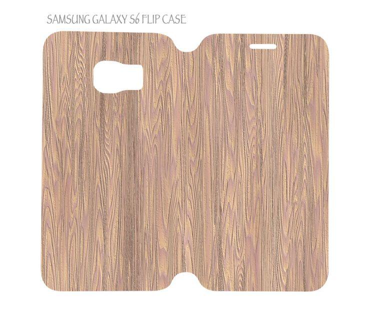 Samsung Galaxy S6 G920 Folio Flip Case Luxury Wood Grain Nature Pattern #04 #QuinnCafe