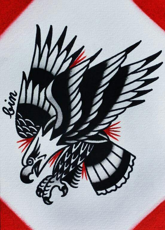 #traditional #tattoo #bird #eagle