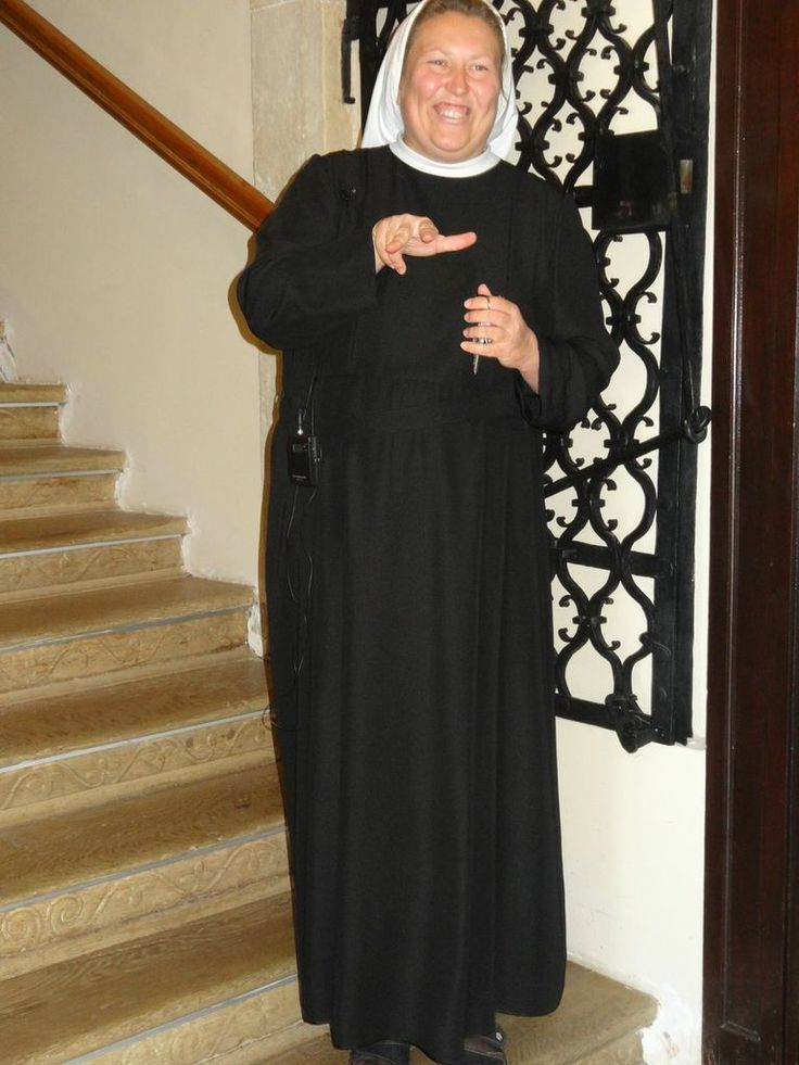 Sister Berislava at the Spiritual Education Centre of Mary's Court at Lužnica
