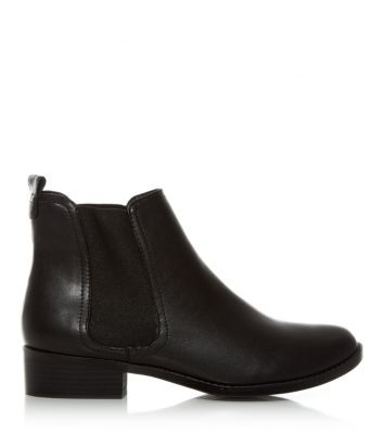 Black Low Block Heel Chelsea Boots new look