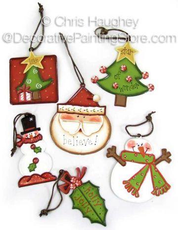 Santa & Friends Ornaments Pattern - Chris Haughey - PDF DOWNLOAD