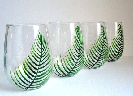 Bardak Boyama örnekleri Cam Bardak Stained Glass Paint Diy Wine