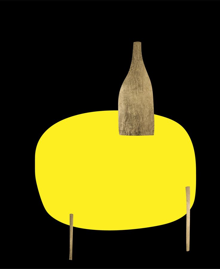 Carafe on Table. Peter Bainbridge. Silk screened on handmade French cotton paper, with 24ct gold leaf.