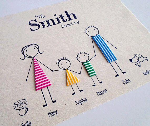 Linen Anniversary Print Personalised Family Print Wedding
