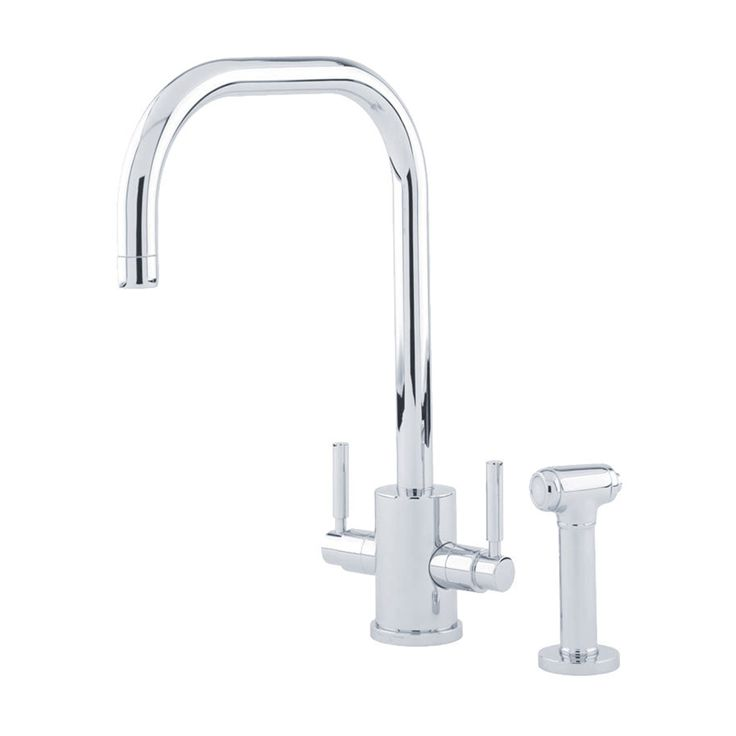 Orbiq sink mixer with 'U' spout and rinse | Perrin and Rowe