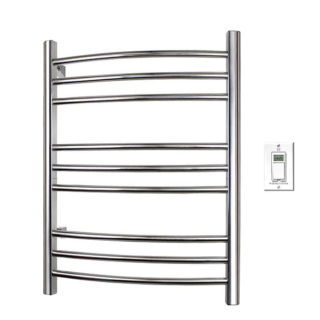 Use this stylish towel warmer to provide your family with ultimate comfort when they get out of the shower or tub. The warmer has a timer that can be programmed to heat towels at the exact time anyone in your family wants a warm towel.