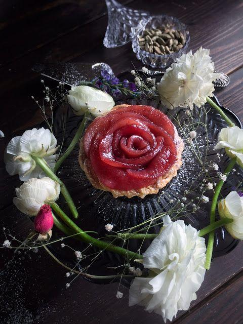 Pear Rose Tartlets