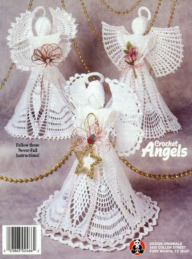 CROCHET ANGELS - Maria Vai Com AS Artes Neia Reis - Picasa Web Albums...FREE BOOK WITH WRITTEN PATTERNS FOR SOME,AND OTHERS HAVE DIAGRAMS!!