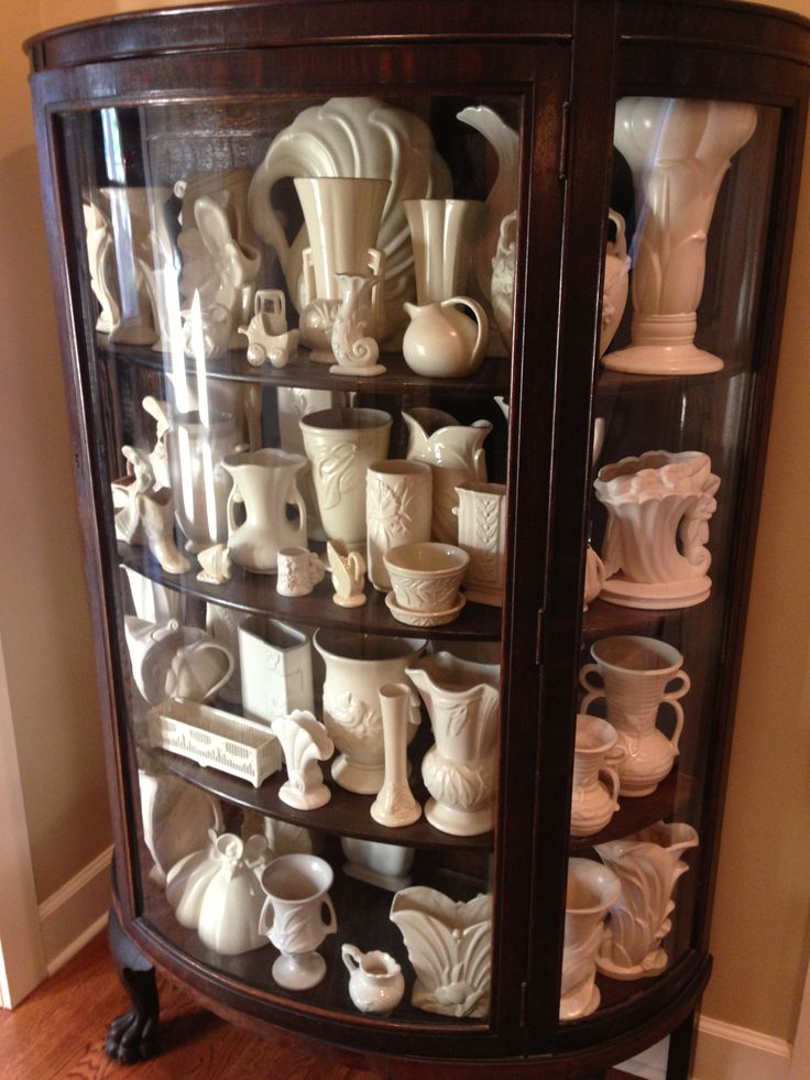 Part of my vintage white pottery collection.  Pin yours too!