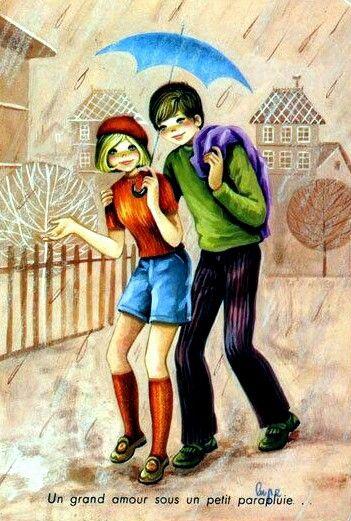 Vintage romantic couple