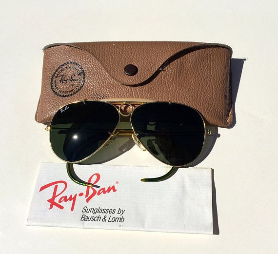 937671f51a Vintage 60 s Ray Ban BL bullet hole shooter sunglasses made in USA size  56 16