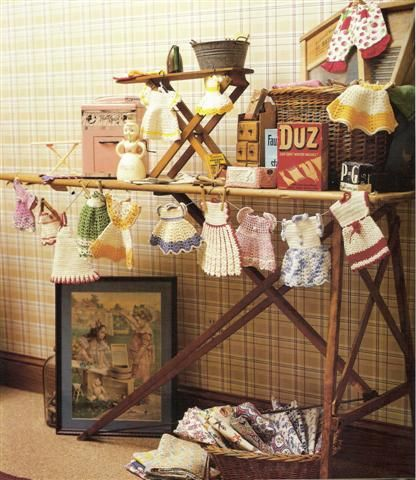 I love this vintage laundry scene from the cover of Collections, BH book.