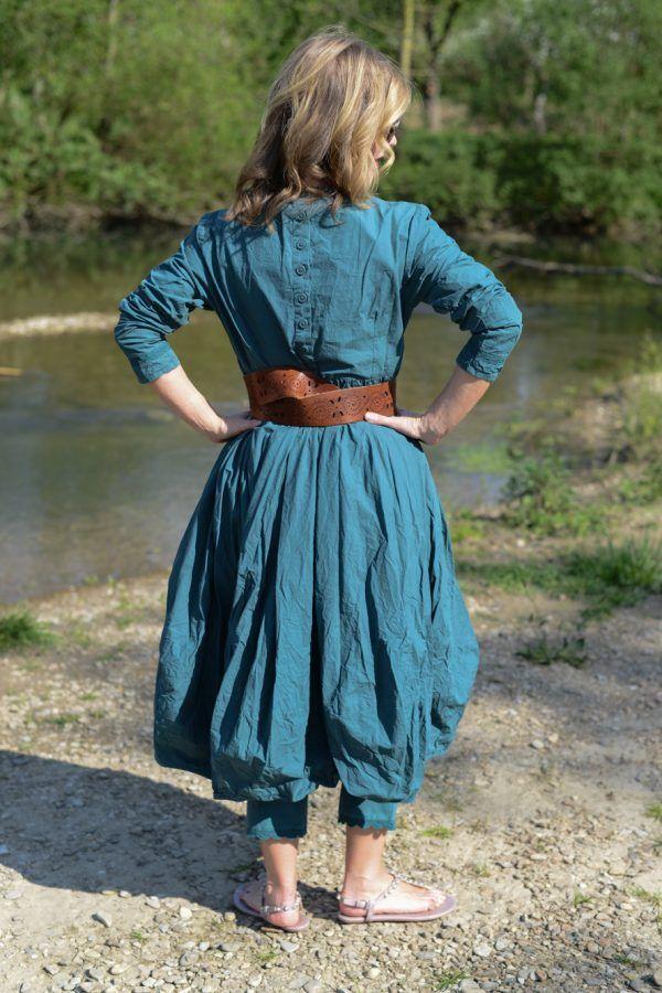 ewa i walla kleid knitterbaumwolle petrol 55595 esmeralda