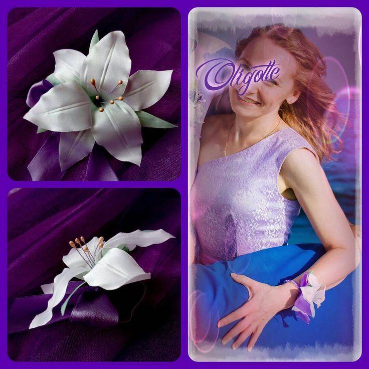 А вот и уникальное #украшение для подружки невесты!  Шелковый  цветок  на руку - нежная лилия с бантиком - цвета свадьбы , вот тут сиреневый. #Olietela #ПишитевВайбер0964545606 или #Facebook/Oligotte  #цветокизткани #цветокизшелка #цветокназаказ #цветокназаколку #лилияизткани #шелковаяфлористика #цветокручнойработы #handmade #ручнаяработа #ручнаяработаназаказ #бутоньерка #бутоньерки  #viber0964545606 #byOligotte
