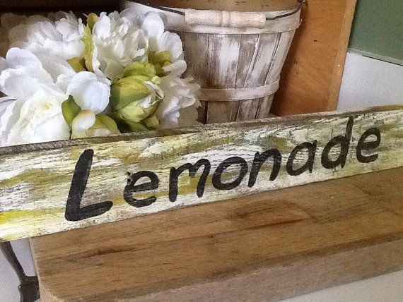 Lemonade sign rustic wedding sign country wedding by PineNsign, $15.00