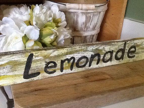 Signe de la limonade signe de mariage rustique signe par PineNsign