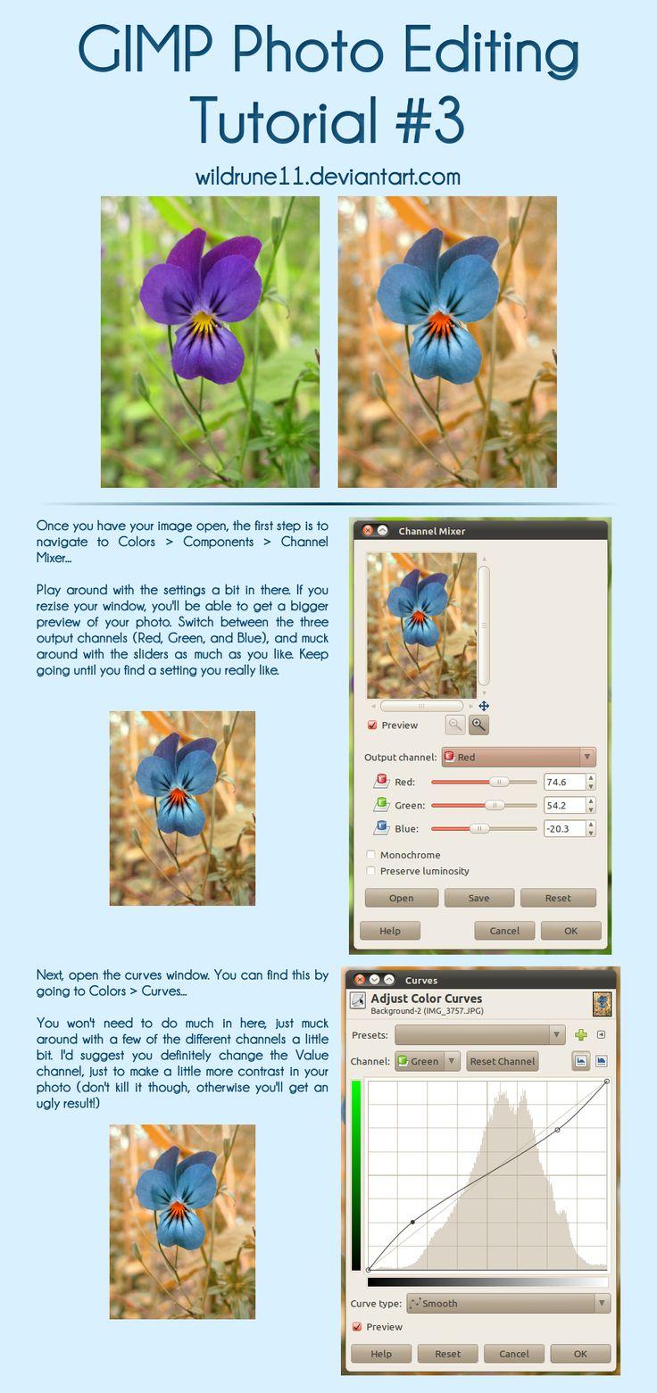 Useful photo-edit tutorial on GIMP