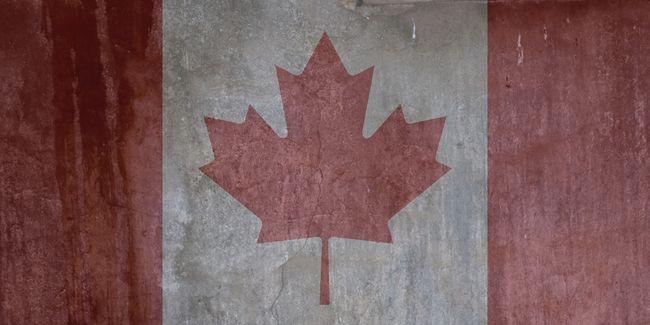 Canadian Flag (grunge) Poster