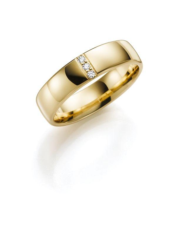 14K geelgouden trouwrng diamant Pioenroos Line H98
