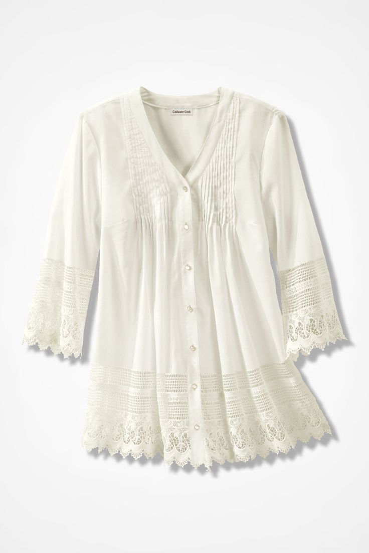Gracious Lace Blouse - Coldwater Creek