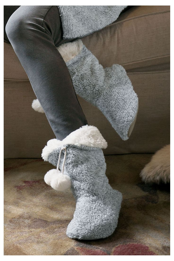 Fluffy  soft, our Cozy Slippers live up to their name! They make a lovely holiday gift for someone who loves to lounge.